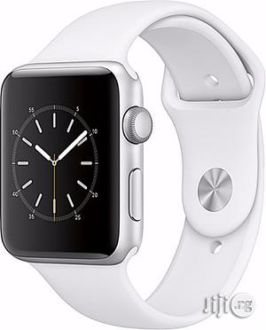 Apple Watch Series 2 - 42mm - Silver Aluminum Case - White Sport Band | Smart Watches & Trackers for sale in Lagos State
