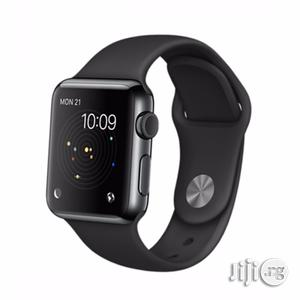 Apple Iwatch 38mm Space Grey Watch For Apple With Black Sports Band.   Smart Watches & Trackers for sale in Lagos State