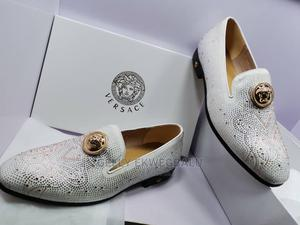 White Studded Versace Men's Loafers   Shoes for sale in Lagos State, Apapa