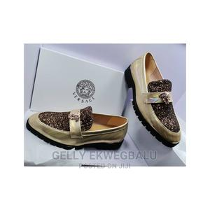 Black and Gold Versace Loafers for Men   Shoes for sale in Lagos State, Apapa