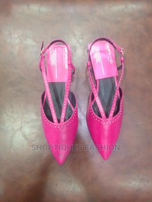 Pink Sling Back Low Heel Sandals   Shoes for sale in Lagos State, Surulere