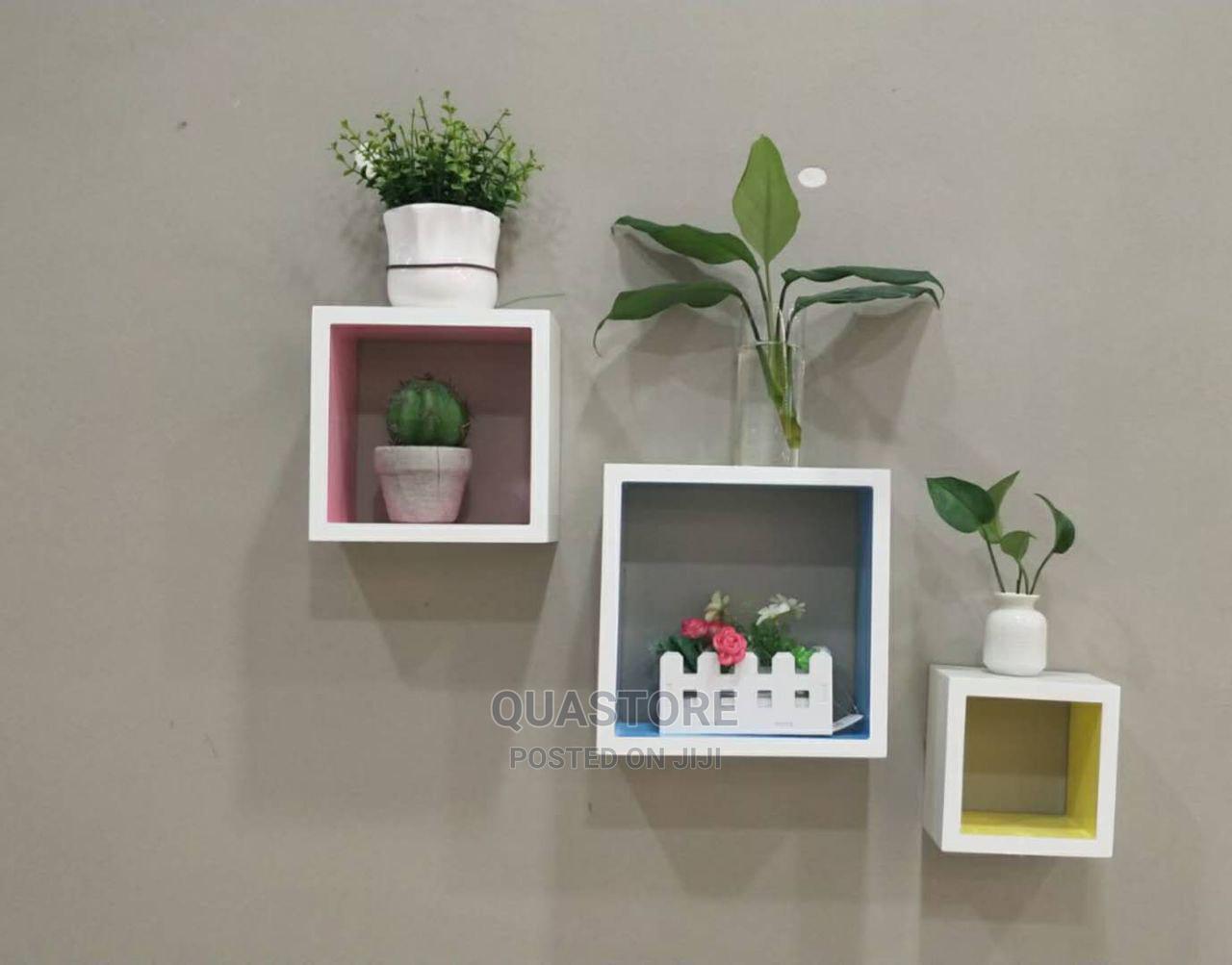 3pcs Square Floating Shelves