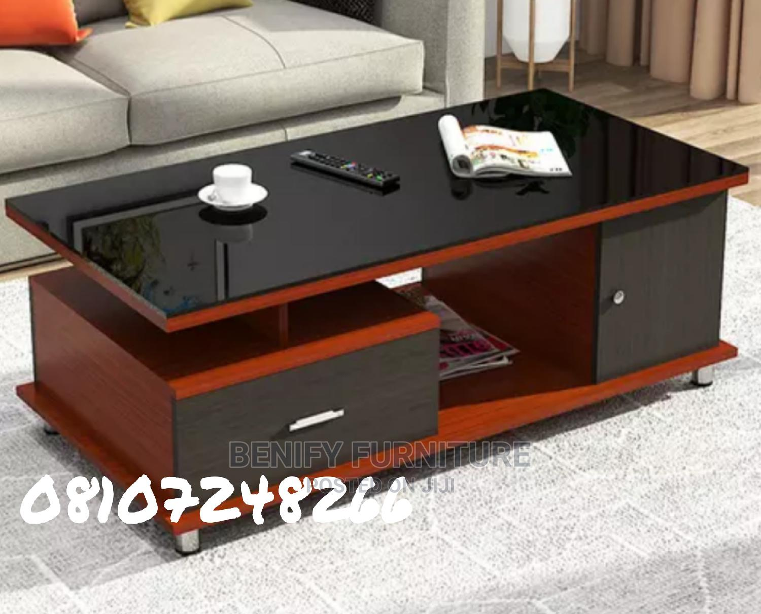 Modern Wooden/Glass Center Table | Furniture for sale in Ikeja, Lagos State, Nigeria