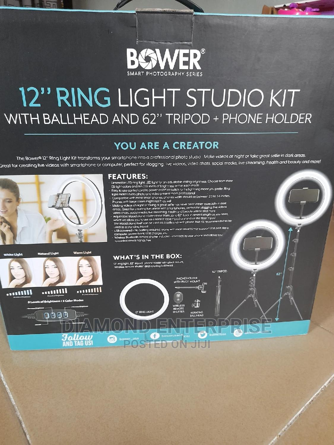 Archive: 12inchs Ring Light Studio KIT With Ball Head 62inches Tripod