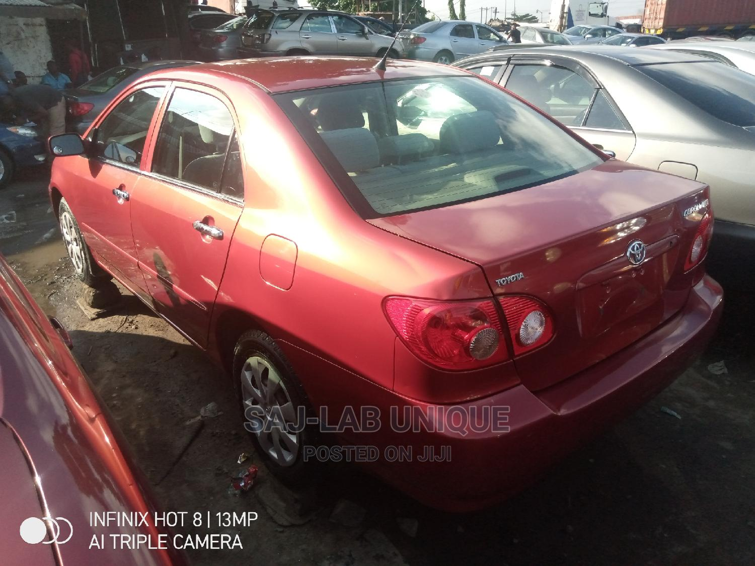 Toyota Corolla 2007 LE Red   Cars for sale in Apapa, Lagos State, Nigeria