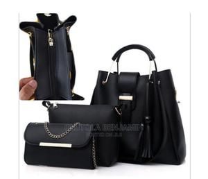 3in1 Office Leather Ladies Handbag (Black) | Bags for sale in Lagos State, Abule Egba