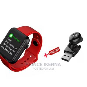 V6 Smartwatch Red With Free Gift   Smart Watches & Trackers for sale in Abuja (FCT) State, Kubwa