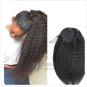 Coarse Natural Kinky Straight Ponytail Wig | Hair Beauty for sale in Lagos State, Surulere