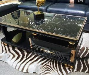 Super Classic Centre Table With Glass Top   Furniture for sale in Lagos State, Ojodu