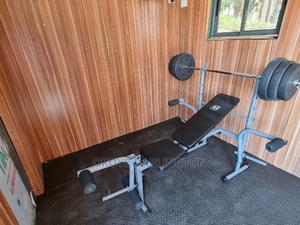 Benchpress With 50kg Weight Bench   Sports Equipment for sale in Lagos State, Ikeja