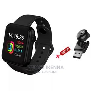 V6 Smartwatch Black With Free Gift   Smart Watches & Trackers for sale in Abuja (FCT) State, Kubwa