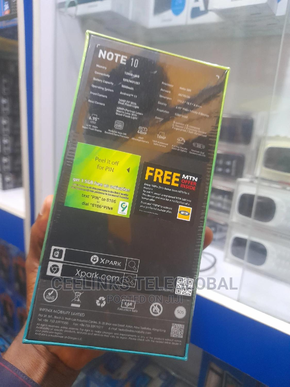 New Infinix Note 10 128 GB Green | Mobile Phones for sale in Ikeja, Lagos State, Nigeria