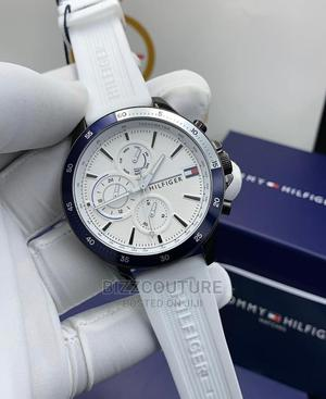 High Quality TOMMY HILFIGER Rubber Watch for Men's   Watches for sale in Lagos State, Magodo