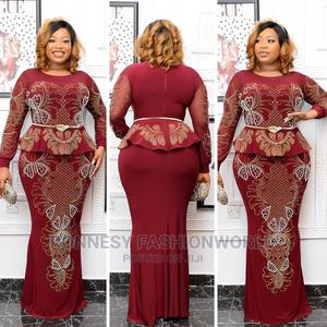 Elegant Classic Trendy Female Quality Long Stoned Gown | Clothing for sale in Lagos State, Ikeja
