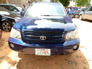 Toyota Highlander 2004 Limited V6 FWD Blue | Cars for sale in Kaduna State, Kaduna / Kaduna State
