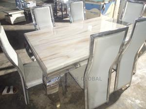 Marble Dining With Six Chair   Furniture for sale in Abuja (FCT) State, Kubwa