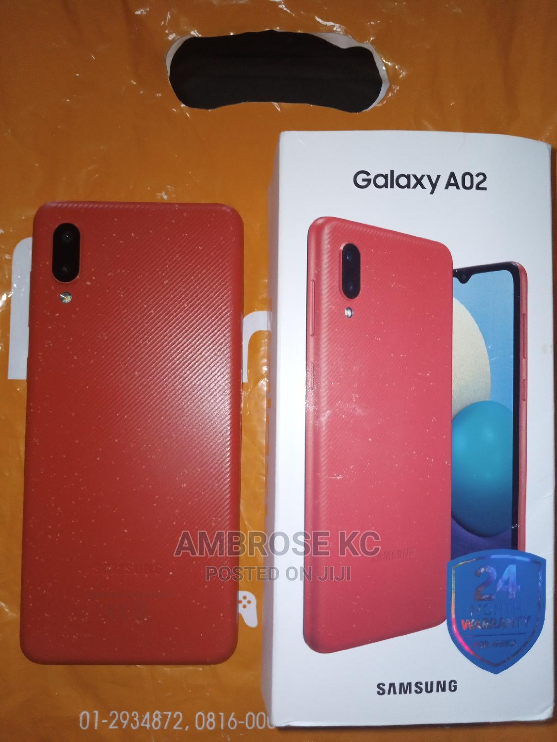 Samsung Galaxy A02 64 GB Red   Mobile Phones for sale in Owerri, Imo State, Nigeria