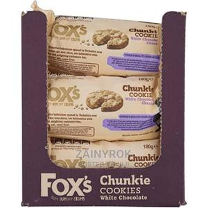 Fox's White Chocolate Chunkie Cookies - 9 Packets X 180g | Meals & Drinks for sale in Lagos State, Alimosho