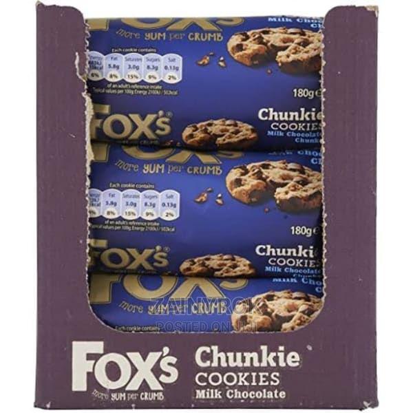 Fox's Milk Chocolate Chunk Cookies - 9 Packets X 180g