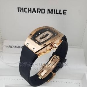 Richard Mille Rose Gold Black Rubber Watch for Women's   Watches for sale in Lagos State, Lagos Island (Eko)