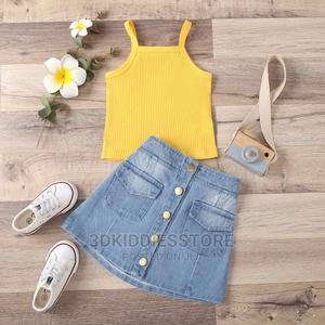 Denim Skirt With Top | Children's Clothing for sale in Lagos State, Ajah
