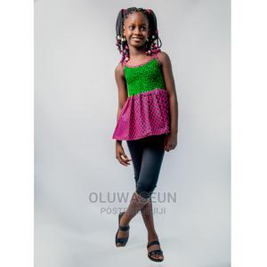 Green Pink Spaghetti Top   Children's Clothing for sale in Lagos State, Gbagada
