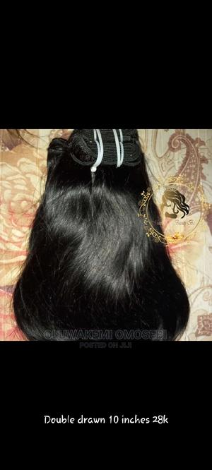 Human Hair 10 Inches Double Drawn | Hair Beauty for sale in Lagos State, Abule Egba