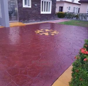 Stamped Concrete Flooring | Landscaping & Gardening Services for sale in Oyo State, Ibadan