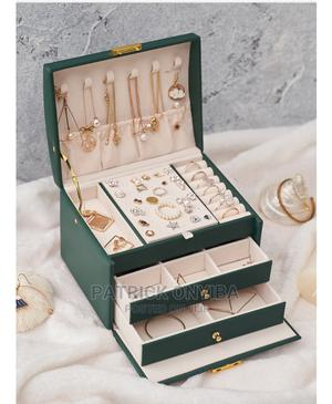 Jewelry Box 3 Layer Drawer With Lock PU Leather | Tools & Accessories for sale in Abuja (FCT) State, Wuse 2