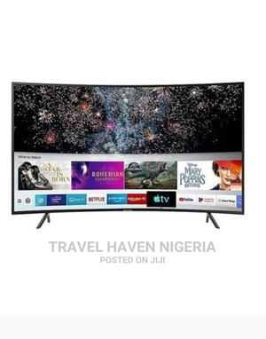 """Polystar 55"""" Inch Curved Smart 4K UHD TV + TV Guard 