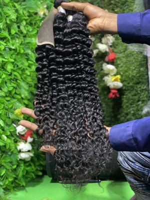 "Virgin Peruvian Deep Wave 30"" Wirh Matching 20"" Closure   Hair Beauty for sale in Lagos State, Lagos Island (Eko)"