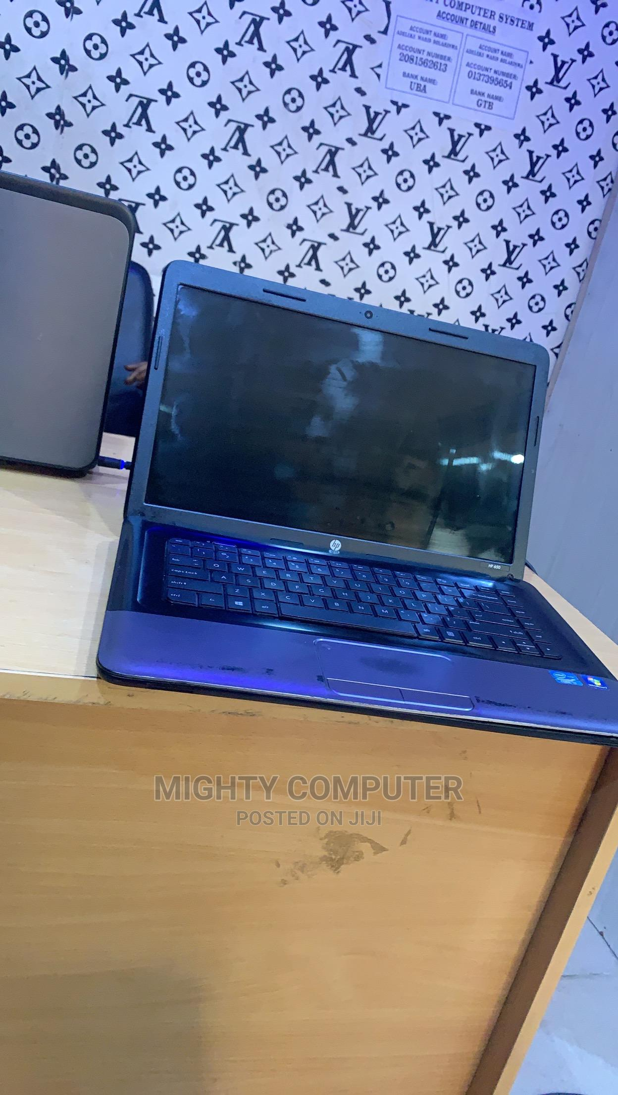 Laptop HP 650 4GB Intel Core I3 500GB   Laptops & Computers for sale in Ibadan, Oyo State, Nigeria