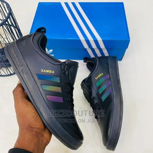 High Quality ADIDAS SAMBA Black Leather Sneakers for Men | Shoes for sale in Lagos State, Magodo
