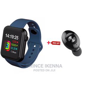 V6 Smartwatch Blue With Free Gift   Smart Watches & Trackers for sale in Abuja (FCT) State, Kubwa