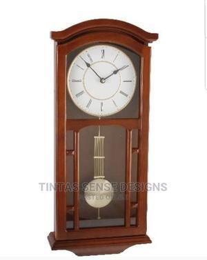 Wm Widdop Elegant Wooden Pendulum Wall Clock With Roman Dial | Home Accessories for sale in Lagos State, Lekki
