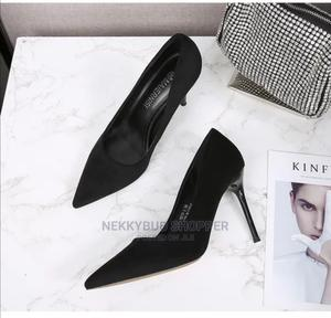 Black Pumps Black Office Shoes Black Corporate Shoes Bigfeet   Shoes for sale in Rivers State, Port-Harcourt
