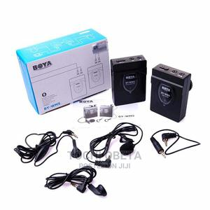 Boya By-wm5 PRO Wireless Lavalier Lapel Microphone System Fo   Audio & Music Equipment for sale in Lagos State, Ikeja