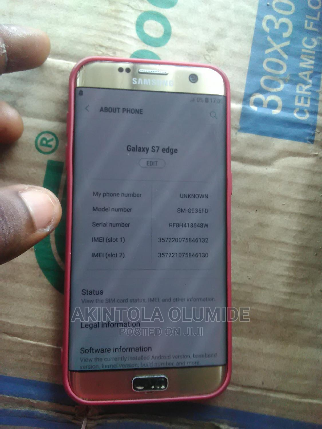 Samsung Galaxy S7 edge 32 GB Gold | Mobile Phones for sale in Ede, Osun State, Nigeria