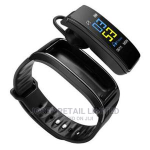 Smart Bracelet With Bluetooth Earphone - 2-In-1 - Black   Smart Watches & Trackers for sale in Oyo State, Ibadan