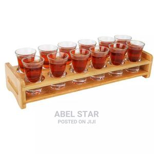 Tequila Bamboo Base With Shot Glassess   Kitchen & Dining for sale in Lagos State, Ojo