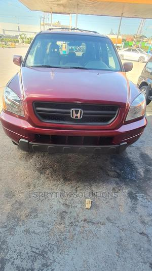 Honda Pilot 2005 EX-L 4x4 (3.5L 6cyl 5A) Red | Cars for sale in Lagos State, Surulere