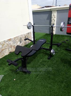 50kg Dumbell With Weight Bench | Sports Equipment for sale in Rivers State, Port-Harcourt