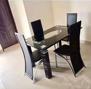 Glass Dinning Table and 4 Chairs | Furniture for sale in Lagos State, Ojo
