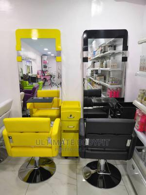 Brand New Mirror Chair With Cabinet   Salon Equipment for sale in Lagos State, Surulere