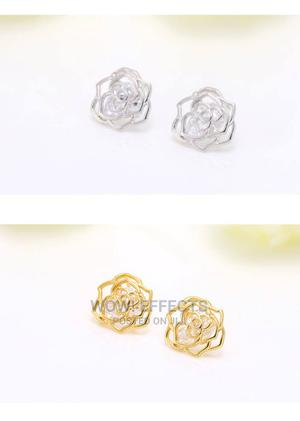 Floral Cut Stud Earrings   Jewelry for sale in Lagos State, Ikeja