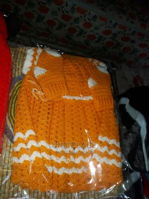 Hand Knitted Orange Baby Gown | Children's Clothing for sale in Lagos State, Apapa