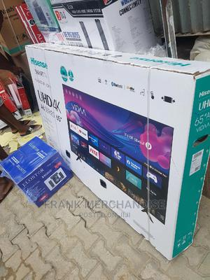 Hisense TV 65inches Powered BY VIDAA Smart TV With Bluetooth   TV & DVD Equipment for sale in Lagos State, Ojo