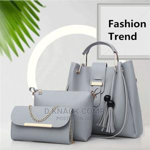 3 in 1 Women Handbag Shoulder Bag Purse Crossbody Bag - Gray | Bags for sale in Lagos State, Surulere