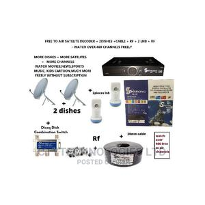 Free to Air Satellite Strongmax Decoder +2dish+Installation | Computer & IT Services for sale in Lagos State, Ikeja