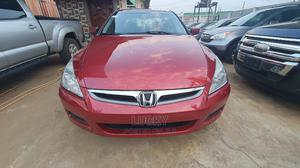 Honda Accord 2007 Sedan EX-L V-6 Automatic Red | Cars for sale in Lagos State, Alimosho